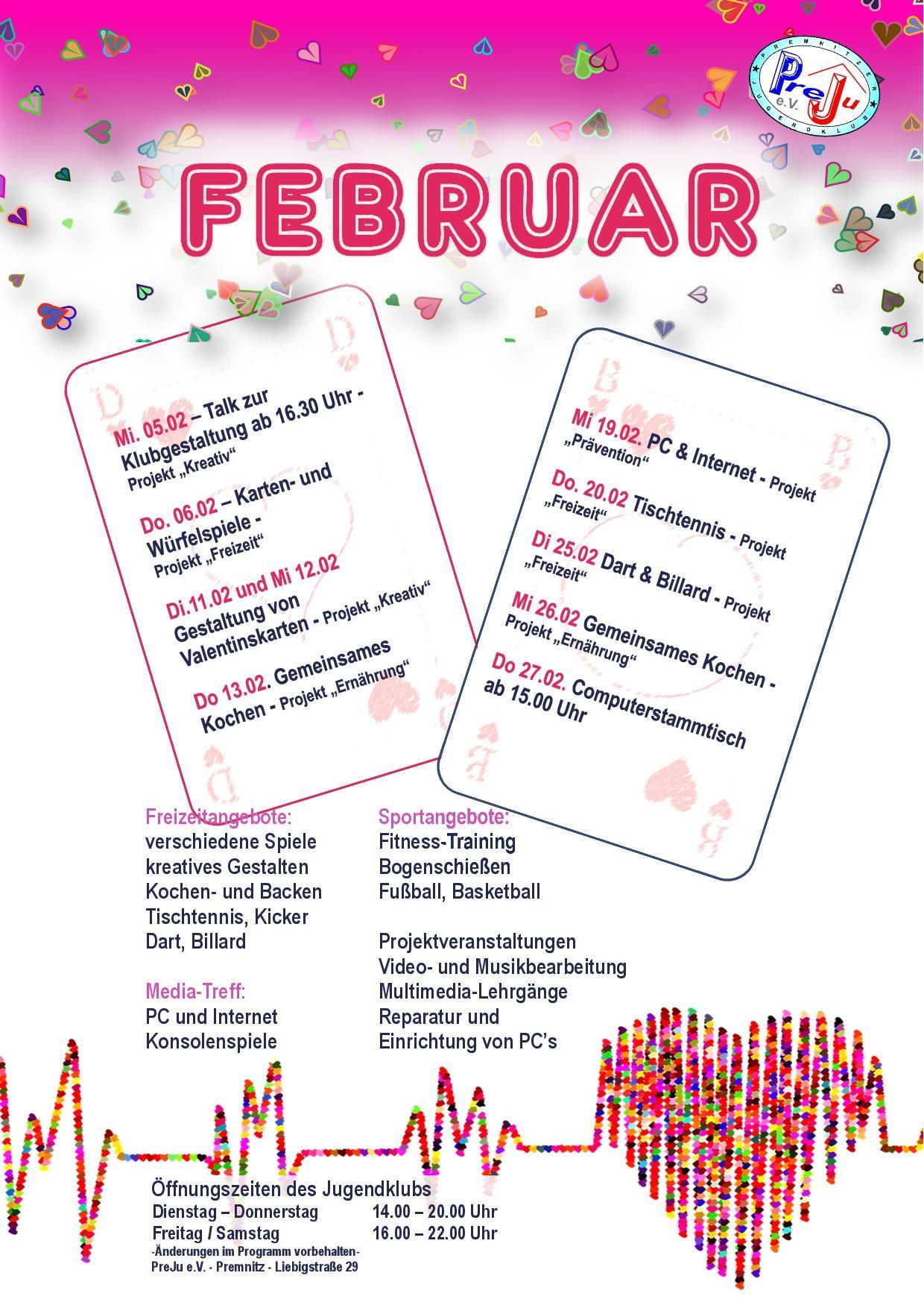 Monatsplan Februar