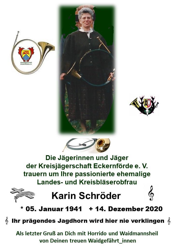 Traueranzeige Karin