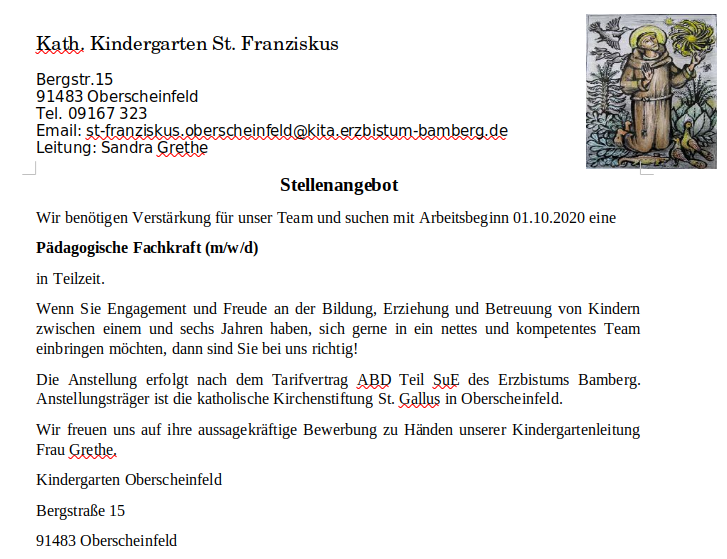 Pädagogische Fachkraft (m/w/d)  in Teilzeit.