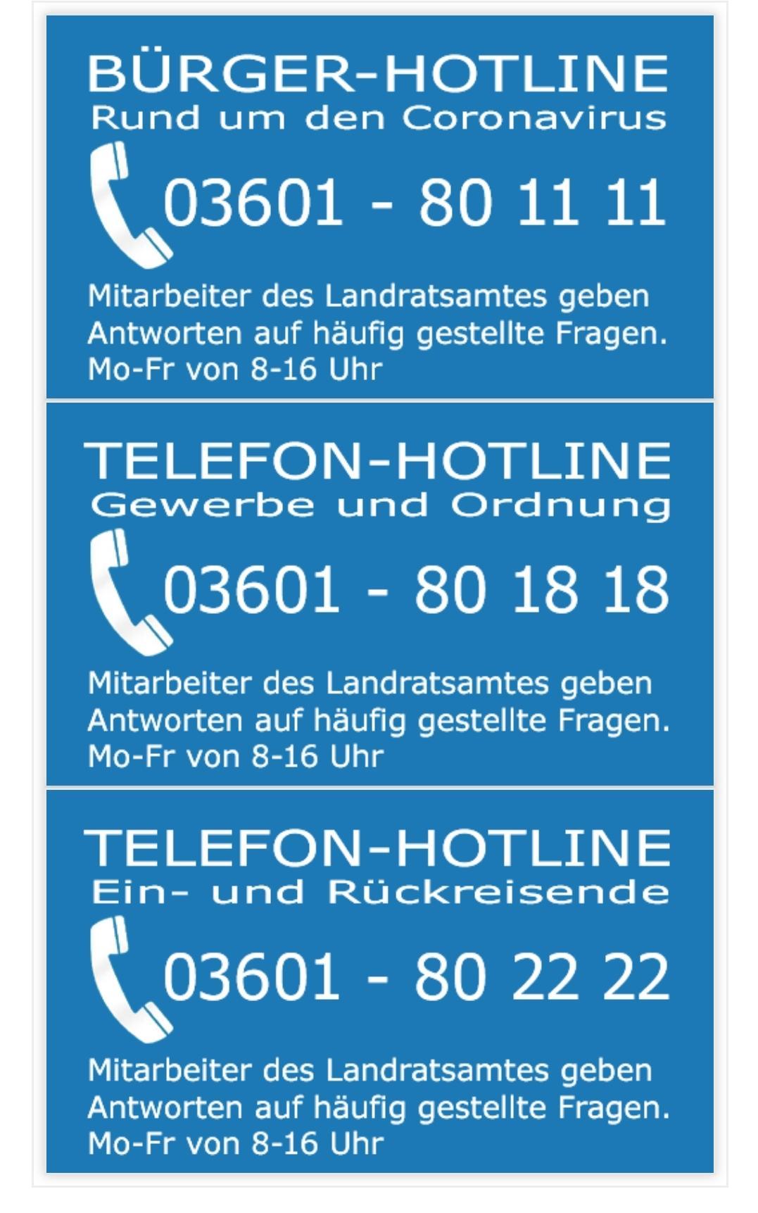 Bürger-Hotline des Landratsamtes
