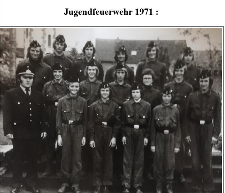 Jugendfeuerwehr 1971