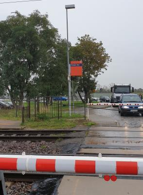 Bild der Meldung: Unfallgefahr am Bahnübergang Prösen-Ost