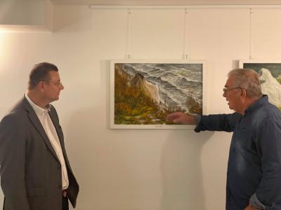 Vorschaubild zur Meldung: Ausstellungseröffnung des Malers Manfred Diekmann