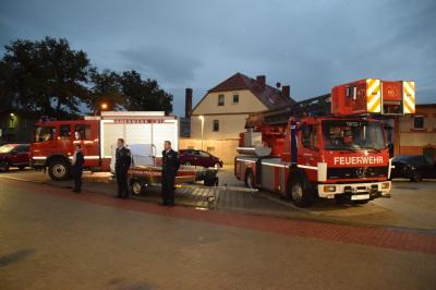 Vorschaubild zur Meldung: Übergabe des neuen Rettungsbootes an die Freiwillige Feuerwehr Perleberg