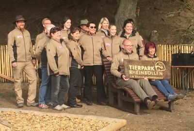 Foto zur Meldung: Die Puricelli Realschule plus Rheinböllen beglückwünscht das Tierpark Team um Kristof Fröhlich zum neuen Start