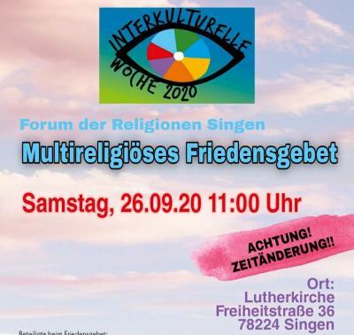 Vorschaubild der Meldung: Multireligiöses Friedensgebet
