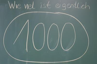 Foto zur Meldung: Klasse 3c: Wie viel ist eigentlich 1000?