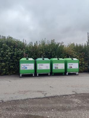Foto zur Meldung: Container der Zaw in Dorfbach an neuem Standort