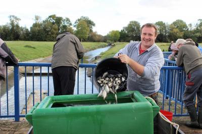 Vorschaubild zur Meldung: Abfischaktion der Angler an der Helme-Talsperre