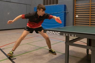Sören Erfolg gegen Marklohes Spitzenspieler Florian Buch war das Highlight des Tages.
