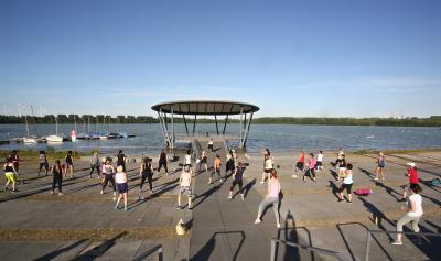 Sport im Park am Blausteinsee