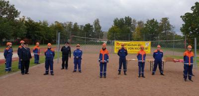 Vorschaubild zur Meldung: Trotz Corona - Abnahme der Leistungsspange der Deutschen Jugendfeuerwehr