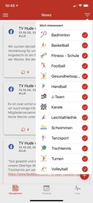 Vorschaubild zur Meldung: Neue personalisierte Vereins-App