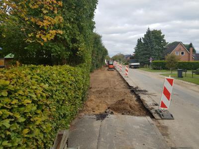 Vorschaubild zur Meldung: Die Bauarbeiten in der Schulstraße gehen weiter.