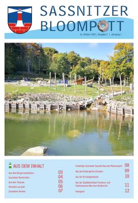 Vorschaubild zur Meldung: Sassnitzer Bloompott - Ausgabe 7 ist da