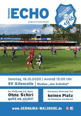 Foto zur Meldung: Germanen-Echo +++ Aktuell+++ Nr.04 - SV Altencelle - 18.10.2020