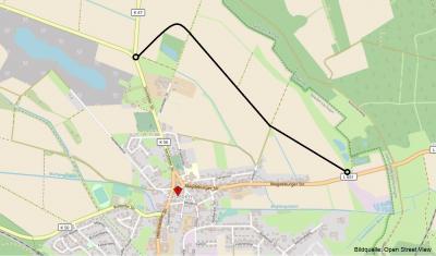 Orientierungszeichnung zur Nordumgehung der Gemeinde Grasleben. (Bild: Open Street View)