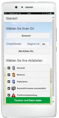 Foto zur Meldung: Die neue Abfall-App