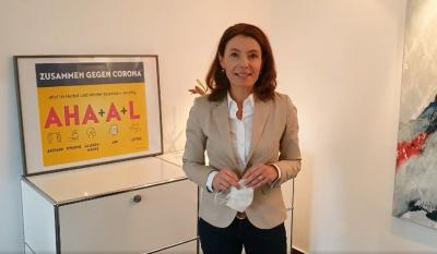 Bürgermeisterin Monika Böttcher: Zusammen gegen Corona.