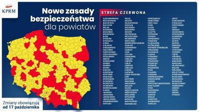 Vorschaubild zur Meldung: Polnische Gesundheitsministerium meldet Rote Zonen