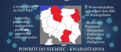 Risikogebiete in Polen