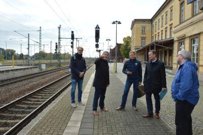 von links: Fritz Viertel, Dr. Oliver Hermann, Christian Görke, Torsten Uhe und Thomas Domres  I Foto: Martin Ferch