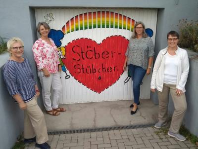 Auf dem Foto (von links): Sylvia Weidinger, Uschi Preuß, Evelyne Buisseret, Kerstin Röttgen