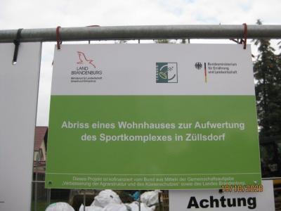 Vorschaubild zur Meldung: Bauinformation – Abriss eines ehemaligen Wohngebäudes OT Züllsdorf