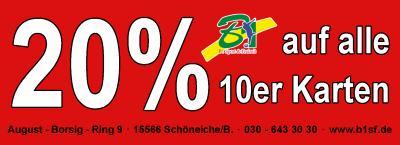 Vorschaubild zur Meldung: 20 % auf 10 er Karten