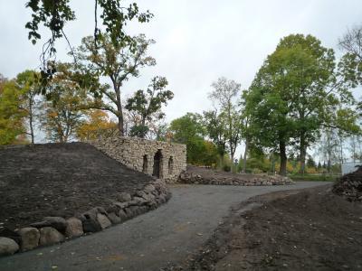 Foto zur Meldung: Besuch auf der Baustelle Grottenberg - Landschaftsbau