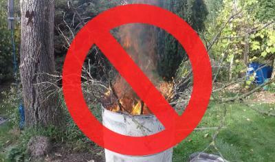 Vorschaubild zur Meldung: Verbot: Verbrennen von Gartenabfällen im Herbst