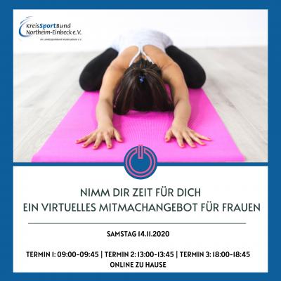 Foto zur Meldung: Nimm dir Zeit für Dich - ein virtuelles Mitmachangebot für Frauen am 14.11.2020