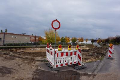 Baubeginn Parkplatz Liebermannstraße