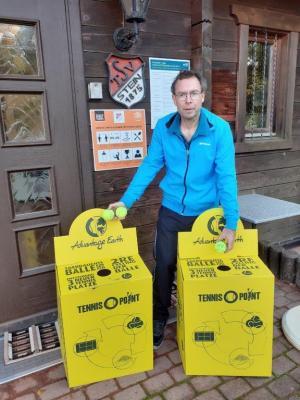 Foto vom Album: Tennis: Gelbe Boxen für mehr Nachhaltigkeit in unserer Abteilung!
