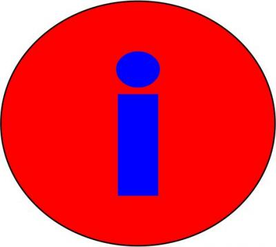 Informationssymbol rot