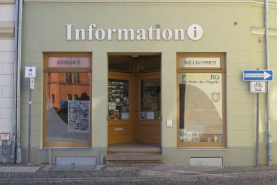 Stadt Perleberg| Eingangsbereich der Stadtinformation Perleberg.