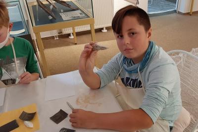 Steinzeitprojekt der Klasse 4b