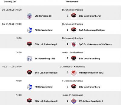 Foto zur Meldung: Fußball: Vorschau auf den kommenden Spieltag am Wochenende