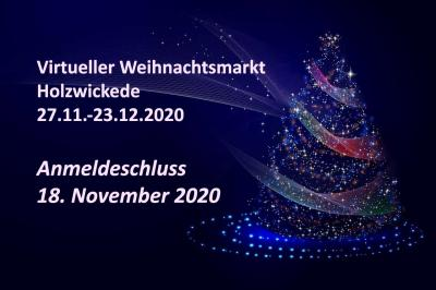 Vorschaubild zur Meldung: Anmeldeformular für den virtuellen Weihnachtsmarkt Holzwickede 2020