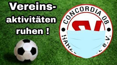 Concordia stellt Trainings- u. Spielbetrieb ein