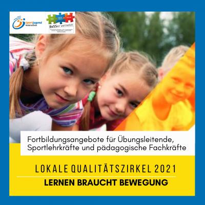 Foto zur Meldung: Lokale Qualitätszirkel 2021 - Für Fachkräfte aus KiTa, Schule und Sportverein