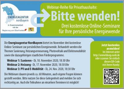 Vorschaubild zur Meldung: Webinar-Reihe zur Energiewende