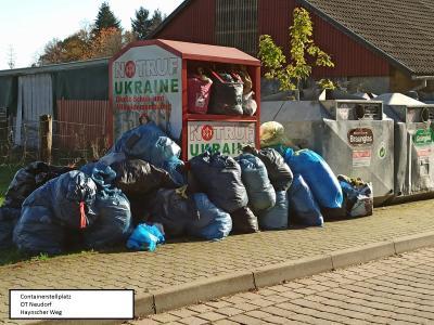 Vorschaubild zur Meldung: Überfüllte Containerstellflächen/ Entsorgung von Textilien