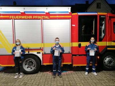 Die Preisträger der Jugendfeuerwehr Kleinsteinbach.