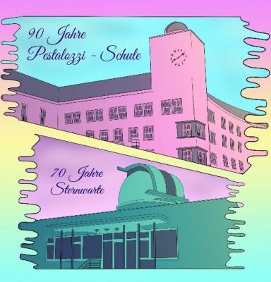 """Vorschaubild zur Meldung: Festschrift """"90 Jahre Pestalozzischule und 70 Jahre Sternwarte"""""""