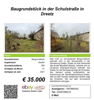 Verkaufsschild Schulstraße mit Fakten & Kurzbescheibung