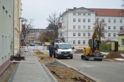 Im Dzember sollen die Arbeiten in der Zimmerstraße abgeschlossen sein I Foto: Martin Ferch