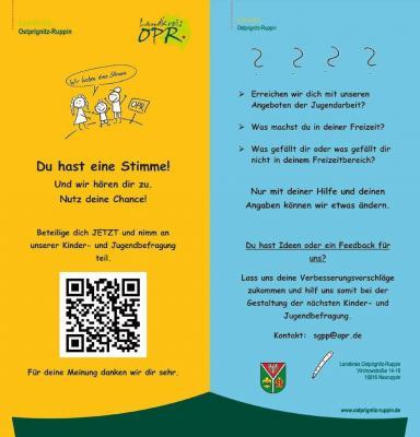 Vorschaubild zur Meldung: Erste landkreisweite Kinder- und Jugendbefragung zum Thema Freizeit