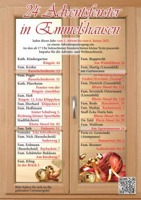 24 Adventsfenster in Emmelshausen