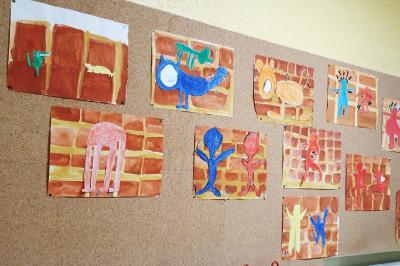 Foto zur Meldung: Klasse 4b: Keith Haring